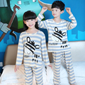Children Girls Pajamas Sets Cartoon Printed 2Piece Long Sleeve Sleepwear Sets Kids Girls Cotton Pyjamas 2016 Fall Girls Pajamas