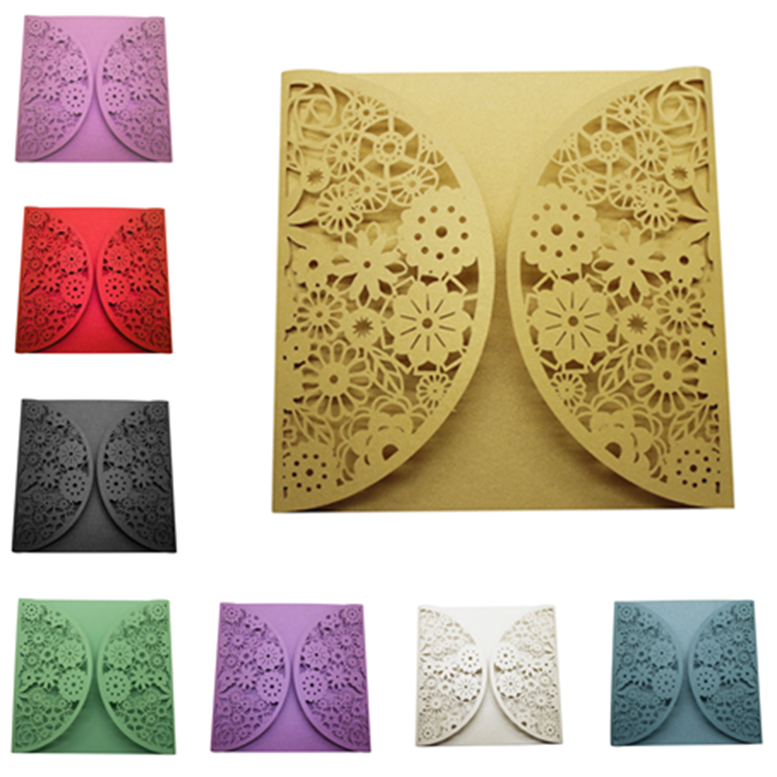Creative 10Pcs Delicate Carved Pattern Romantic Wedding Party Invitation Card For Wedding Business Party Birthday 1 design laser cut white elegant pattern west cowboy style vintage wedding invitations card kit blank paper printing invitation
