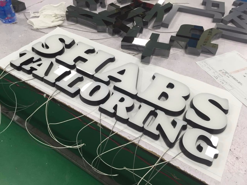 Tireless Outdoor Shop Advertising Custom Acrylic Open Closed Led Neon Sign Letters