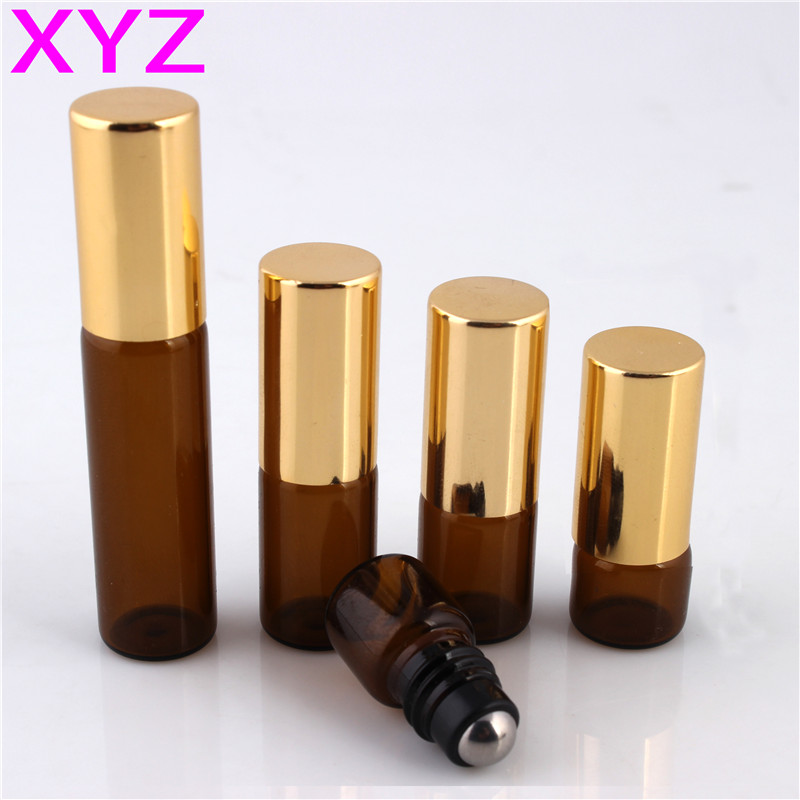 XYZ (100pieces/lot) 1ML 2ML 3ML 5ML Glass Roll on Bottle with Stainless Steel Roller Small Essential Oil Roller-on Sample Bottle цены