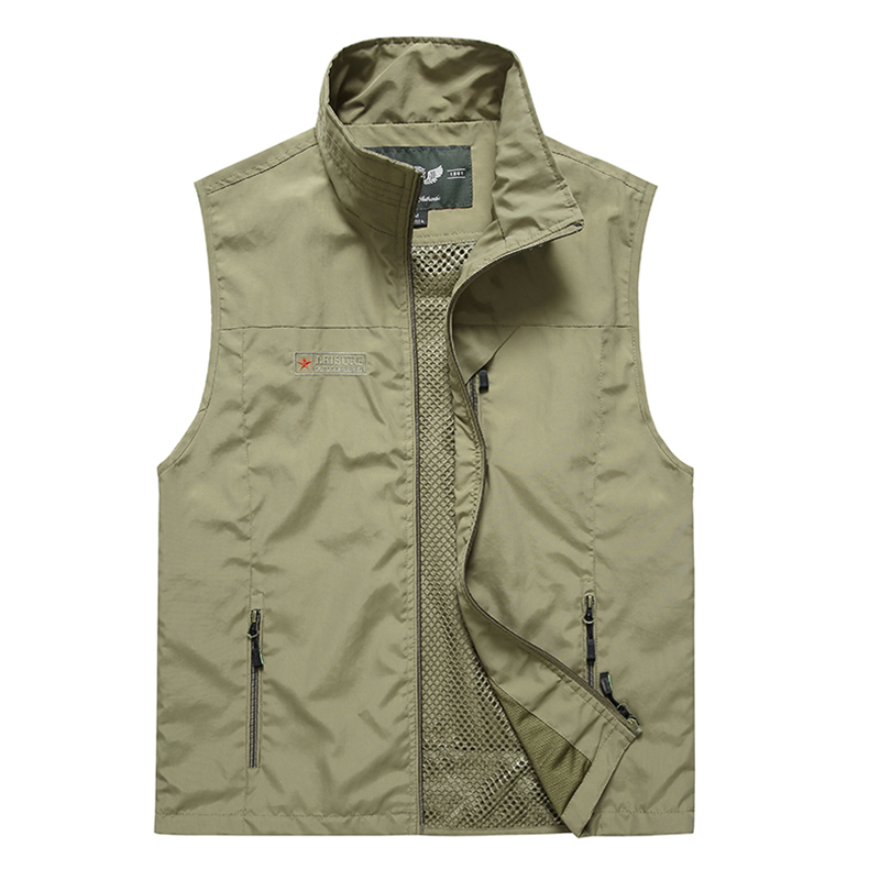 Summer Mesh Vest With Many Pockets For Men Thin Breathable Multi Pocket Classic Waistcoat Male Photographer Sleeveless Jacket