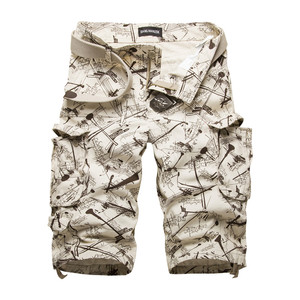 New Men's Cotton Cargo Shorts Good Quality Multi-pocket Camouflage Tooling Shorts Male Outdoors Casual Shorts Size42 No Belt