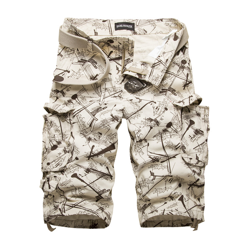 New Men s Cotton Cargo Shorts Good Quality Multi pocket Camouflage Tooling Shorts Male Outdoors Casual