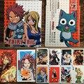 54 unids/set Fairy Tail Acción Figuras Colección Poker Tarjetas de Embalaje Caja de Color Kid Juguete de Regalo