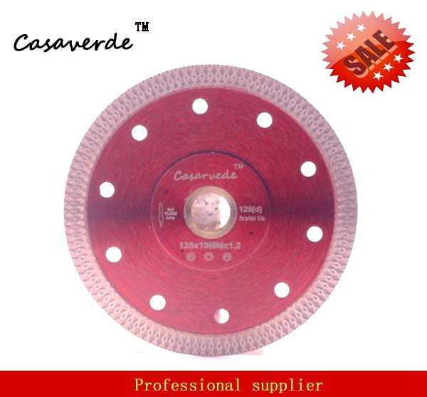 Casaverde Brand D125mm super thin diamond porcelain ceramic cutting blade for cutting ceramic or porcelain tile free shipping dc sxsb02 4 5 inch super thin diamond ceramic saw blade 115mm for cutting porcelain tile