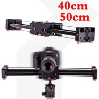 40cm/50cm Camera Video Slider Double Distance Track Dolly Rail System Stabilizer for Canon Nikon Sony DSLR Photography Studio