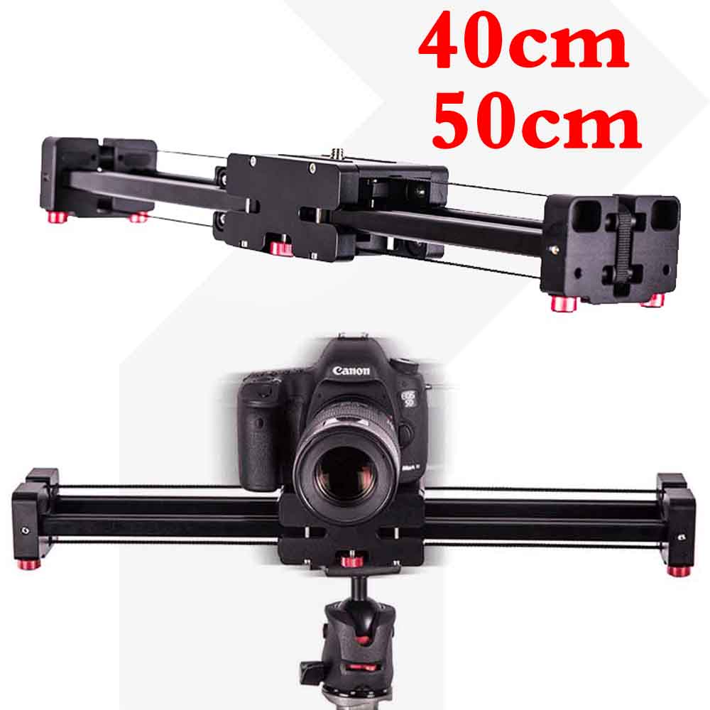 40cm/50cm Camera Video Slider Double Distance Track Dolly Rail System Stabilizer for Canon Nikon Sony DSLR Photography Studio image