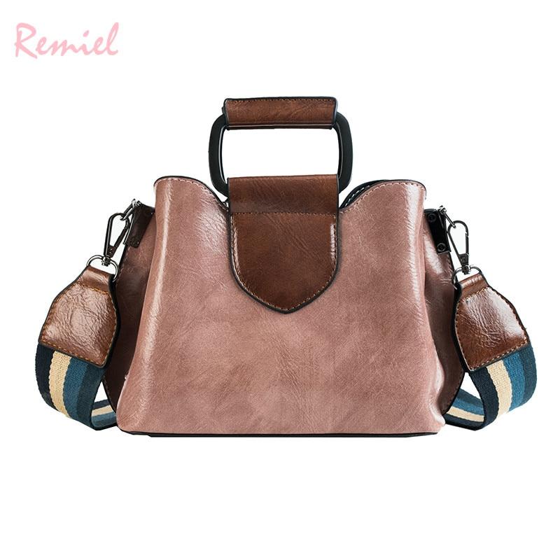 Ретро мода женская сумка 2018 новое качество искусственная кожа Для женщин дизайнерские сумки широкий плечевой ремень сумка Курьерские сумк...