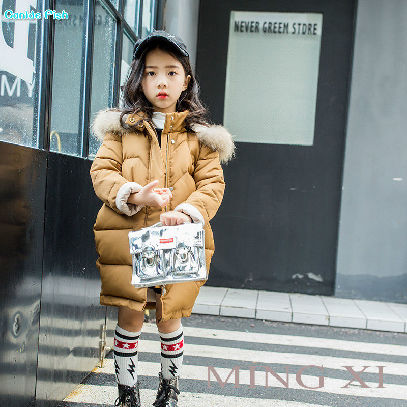 Children's clothing girls winter clothing 2017 new girls in the long section hooded cotton clothes children's fur collar coat lucky panda 2016 woman the new winter coat in the korean version of women s fur collar down cotton cultivation lkb021