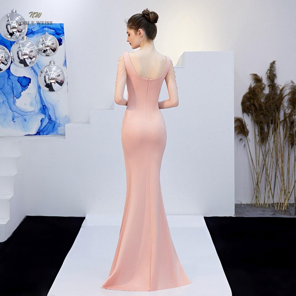 Robes de bal 2019 robe de bal sirène rouge foncé sexy devant fendu robes de gala col en v robe de bal - 2