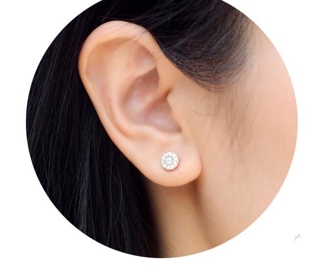 925 ασημένια σκουλαρίκια Λευκό CZ - Κοσμήματα - Φωτογραφία 6