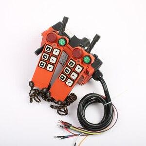 Image 2 - 2 transmitter 1 Receiver F21 E1 emergency stop mushroom head crane driving hoist industrial wireless remote control 24V 36V 220V