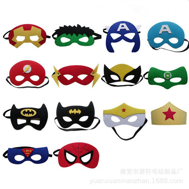30 Colors Kids Super Hero Cosplay Mask Kids Birthday Party Anime and Movie Cosplay Blinds Halloween Show Dress Up Costume Mask 3