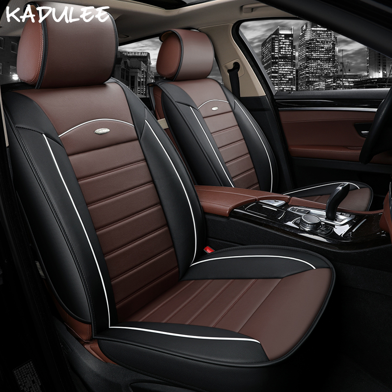 KADULEE car seat covers for renault kangoo opel astra k toyota corolla verso mitsubishi colt auto seat protector car-styling kadulee ice silk car seat covers for honda city opel astra k lancia ypsilon honda accord 2003 2007 for land rover car styling