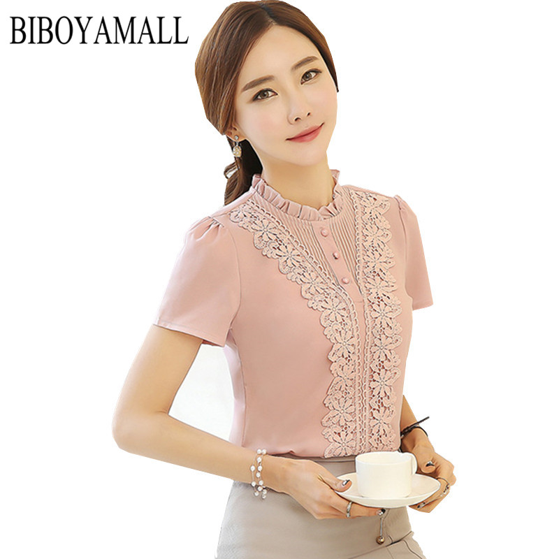 Creative BFDADI 2017 Summer Women Blouses Square Collar Sweet Floral Blouse Short Sleeve Shirt Women Tops ...