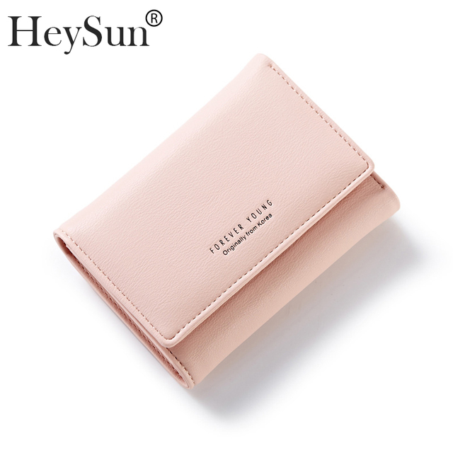 f0f10ffb54a2 Women Wallets Quality Leather Mini Envelope Wallet Zipper Coin Pocket Ladies  Small Purse Clutch Female Short Card Holders