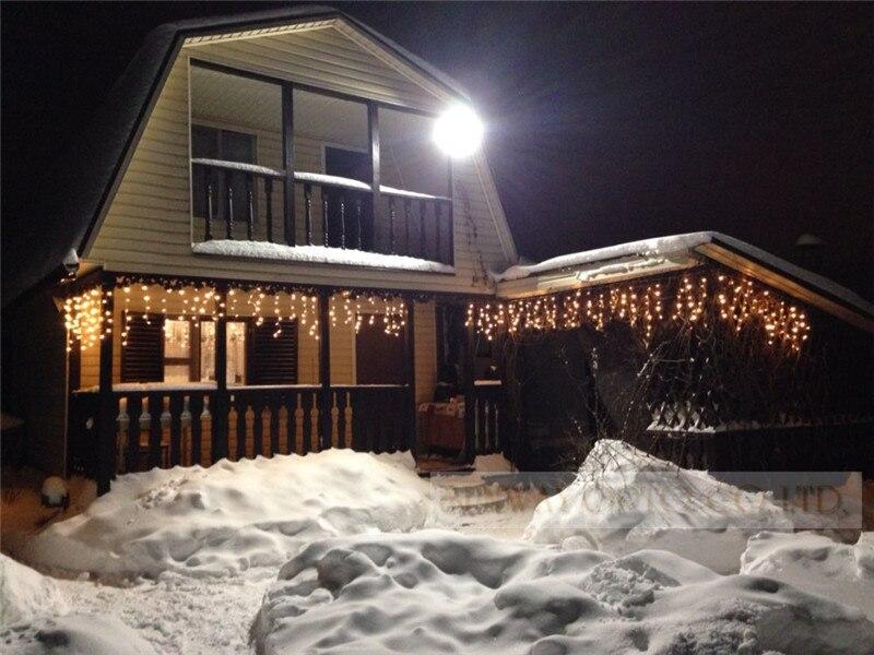 5 m 96SMD Белый праздник Красного Шторы Свадебные огни Светодиодный гирлянды светодиодные Газа ледяной бар лампа гирлянды для вечерние Фея на Рождество и