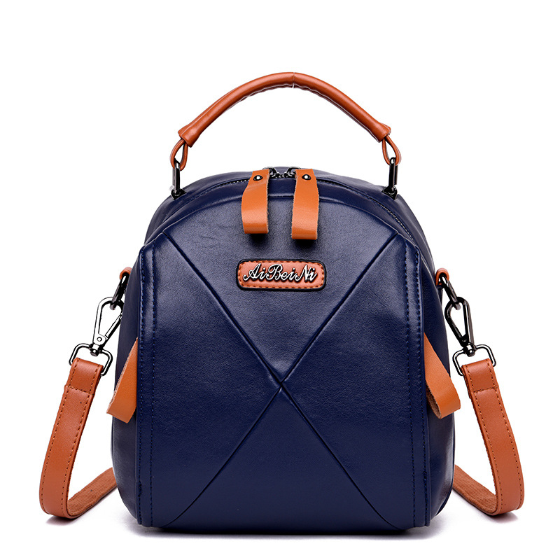 Women\'S Genuine Leather Handbags Shoulder Crossbody Bag Women Tote Bags Ladies Multifunction Bag Back Pack