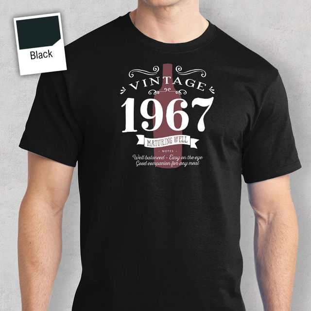 50th Birthday Gift Present Idea For Boys Dad Him Men T Shirt 50 Tee 1967 Shirts 2018 Brand Clothes Slim Fit Printing