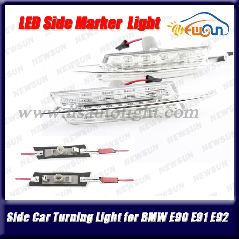 Free Shipping New 1Set Auto Side Marker Fender Side Steering Light Lamp Car LED Turn Signal Light for BMW E90 E91 E92