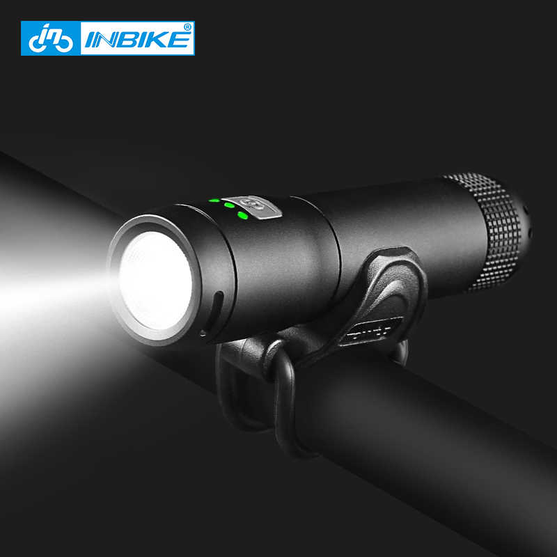 INBIKE Lampu Sepeda MTB Sepeda Lampu Tahan Air LED Power Bank USB Rechargeable 600-1000 Lumen Lampu Depan 6 mode