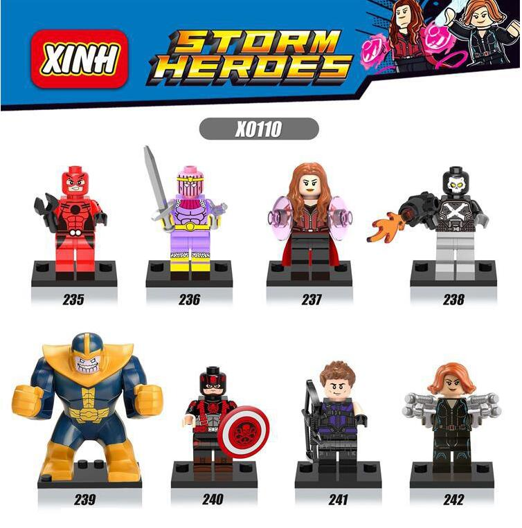 8pcs Set Figures china Building Blocks Sets brandHydra captain America black edition compitble with Lego