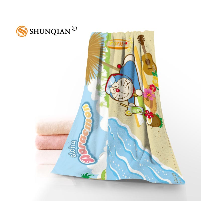 Custom Doraemon Towels Facecloth Bath Towel Bamboo Fiber Washcloth Washrag 35x75cm 140x70cm 1pcs Custom