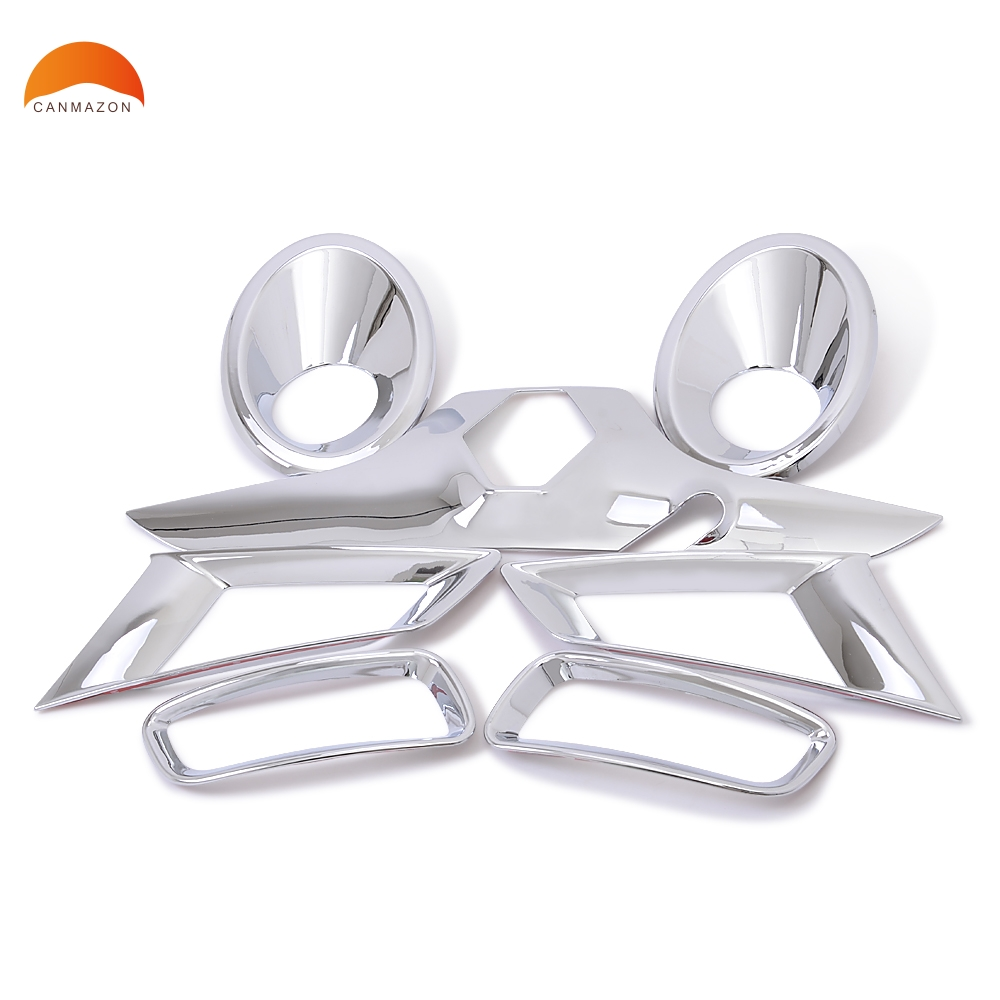 For RENAULT KOLEOS 2009 2010 2011 ABS Chromium Front+Rear Foglight Lamp Decoration Cover Trims External Car Accessories 7pcs rear bumper sill plate guards cover for renault koleos 2008 2009 2010 2011 2012