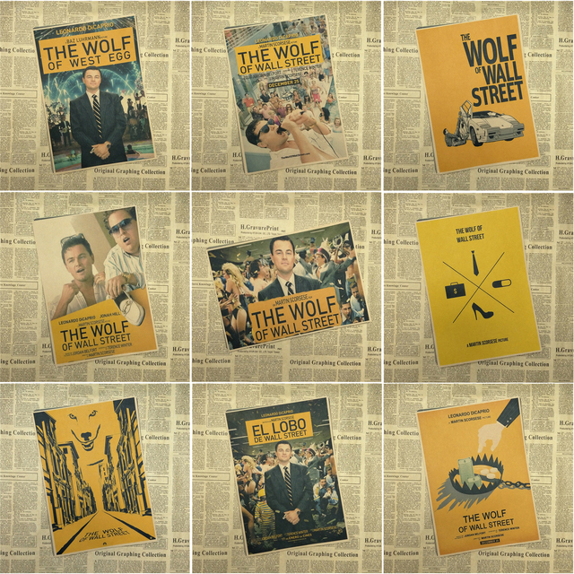 The Wolf of Wall Street Oscar Poster retro decorative painting wall ...