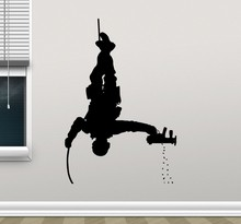 New arrival Special Forces Wall Decal Policeman Military Soldier Sticker Police Art Kids Boy Room Home Decor