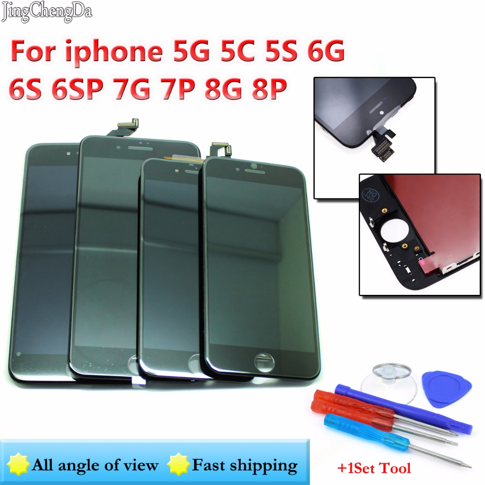 JCD For iPhone 5S 5 5C 6 6S 6SP 7G 7P LCD Display Touch Screen Full Set Digitizer Replacement Assembly LCD Phone Parts image