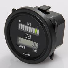 Бесплатная доставка Кварц Led Батарея цифровой индикатор счетчика для dc работает блок 12 В и 24 В, 24 В, 36 В, 48 В, 72 В
