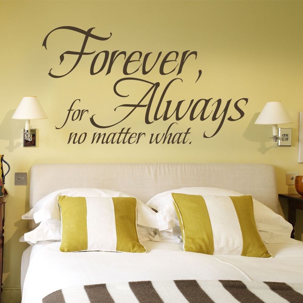 Love Wall Quote Forever For Always No Matter What Wedding Decoration ...