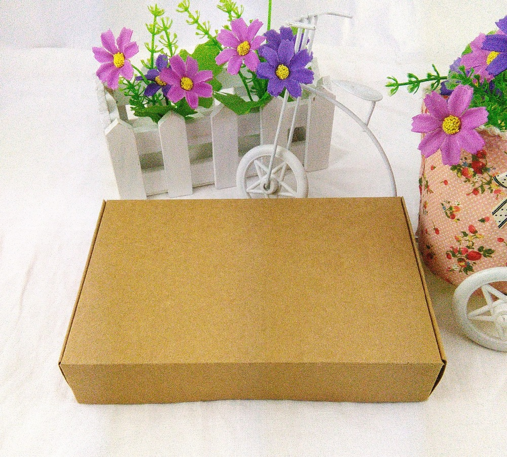 DIY Handmade kotak Hadiah 18X11.5X3.5 cm Kraft Kertas kotak Hadiah Kosong Kemasan Kotak Karton untuk Ornamen / Syal / Dasi 12 PCS / Lot