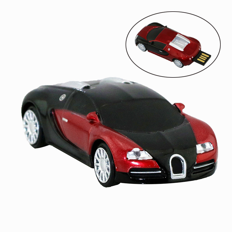 New Arrive Metal Cool Roadster Car USB Flash Drive 8G Sport Car USB 2.0 32GB USB Memory Drive Stick Cle Pen Memory Stick Storage