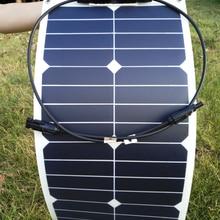 RG Sunpower Гибкая солнечная панель 25 Вт монокристаллическая 20% эффективность зарядки солнечная батарея