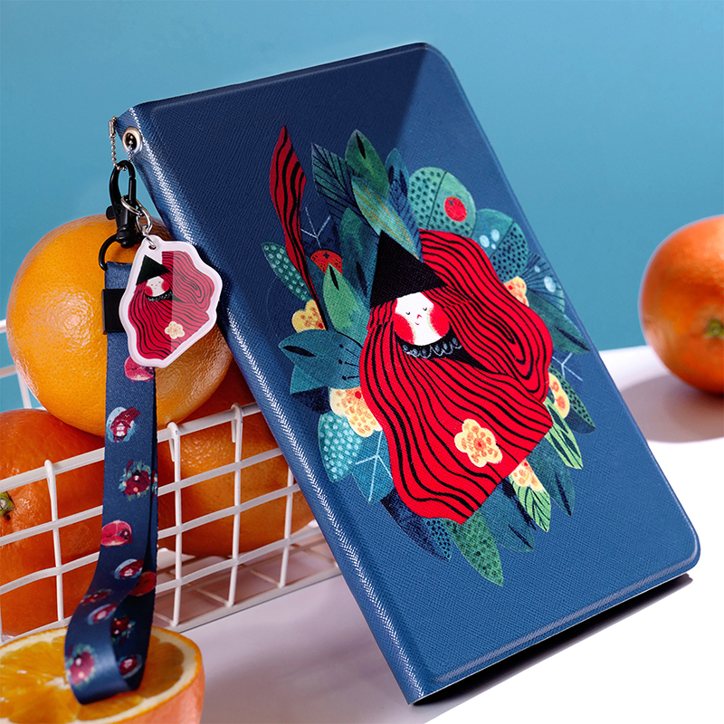 Beauty Girl Smart Leather Case Flip Cover For iPad Pro 9.7 10.5 Air Air2 Mini 1 2 3 4 soft Tablet Case For New ipad 9.7 2017