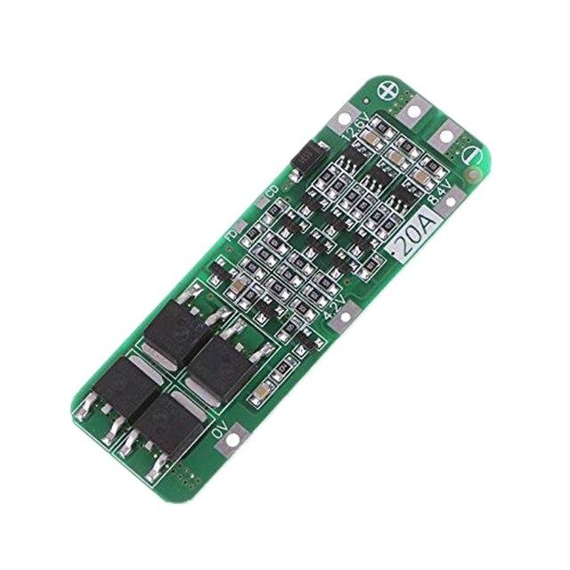 3S 20A Li Ion batería de litio 18650 cargador Pcb Placa de protección BMS para motor de taladro 12,6 V Módulo de célula Lipo