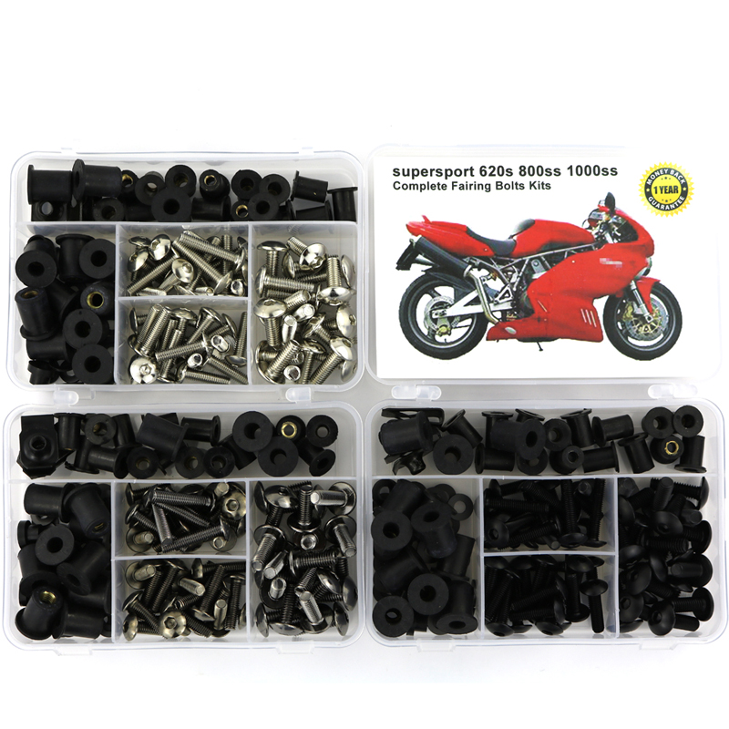 For Ducati SUPER SPORT 620s 800ss 1000ss Motorcycle Cowling Complete Full Fairing Bolts Kit Nuts Steel Bodywork Nuts