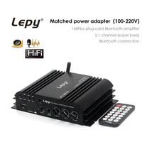 LP 168 Plus HiFi Car Amplifier Stereo Digital Amplified USB Plug Wireless 2 1CH Audio Digital