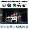 Управление рулевого колеса 7 дюймов Bluetooth Car Audio Stereo MP5 MP4 плеер 2 дин Видео аудио AUX FM USB TF с Дистанционным управления