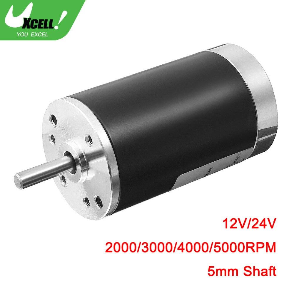 UXCELL Hohe Qualität 7 watt DC 12 v/24 v 2000/3000/4000/5000 rpm 5mm Durchmesser Welle CCW Ersatz Gebürstet Elektrische Motor