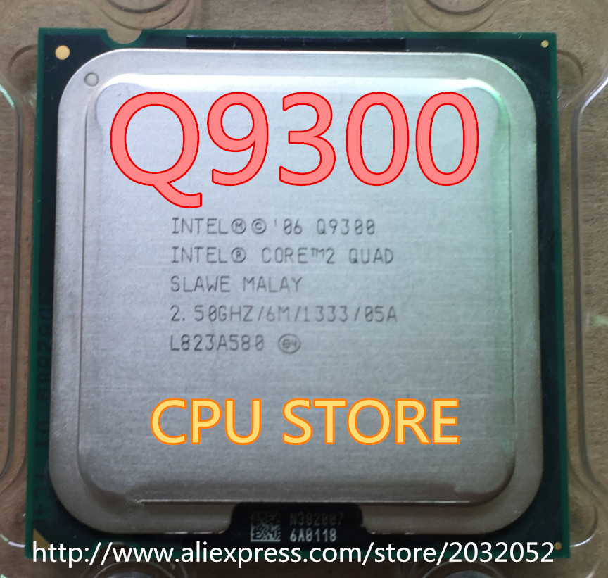 for Lntel 2 Quad Q9300 Processor 2.5GHz //6MB Cache//FSB 1333 Desktop LAG 775 CPU Working 100/%