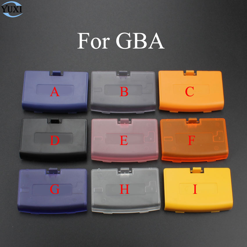 YuXi Game Accessories Battery Cover Case Back Door Lid Replacement For Nintendo Gameboy Advance GBA Console