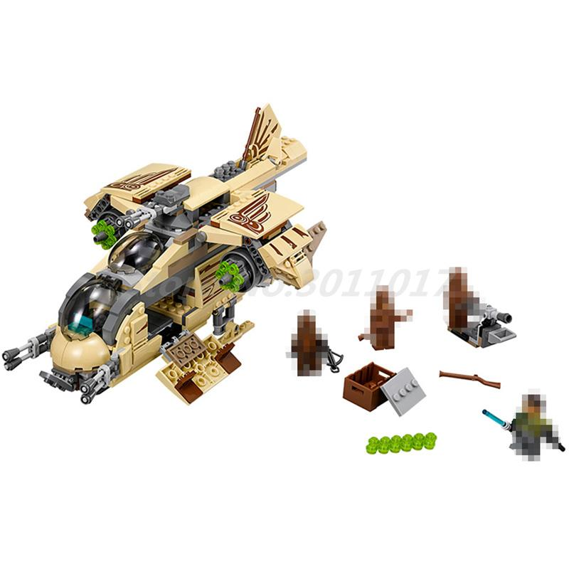 BELA 10377 Building Blocks Star Wars Figures Wookiee Gunship 75084 Model Bricks Educational Toys for Children Gifts new bela 10377 star wars wookiee gunship model building blocks sets wullffwarro kanan bricks