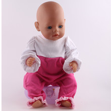 цены Handmade Dress Suit Doll Clothes Fit 43cm Baby Born Zapf Doll Clothes Baby Best Birthday Gift Doll Fashion Accessories n117
