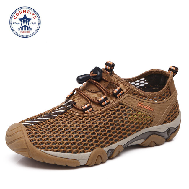 Shoes Men Real Elastic Band Men Conmeive 2016 Outdoor Breathable Summer Wading Upstream Shoes Sandals Special Amphibious