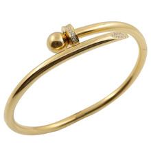 Stal nierdzewna kryształ w złotym kolorze bransoletki luksusowe marki stylowe śruby bransoletka dla kobiet dekoracja dla dziewczynki akcesoria do biżuterii prezent tanie tanio JINHUI Kobiety STAINLESS STEEL TRENDY moda Metal Zgodna ze wszystkimi Decoration MSX-bangle-B160436 Niewidoczne ustawienie