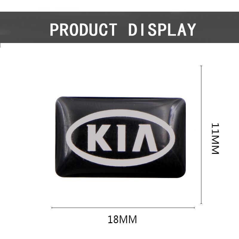 Estilo do carro Decorativo pequeno Crachá calotas volante Para Kia K2 K3 K5 Alma Rio Sorento Sportage R carro adesivos acessórios
