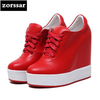 Zorssar Women Sneakers Shoes High Heel Pumps 2018 New Womens Wedges Height Increasing Casual Shoes